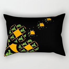 Orange and Green Spaces 110 Rectangular Pillow