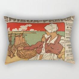 Vintage French sea fish advertising Rectangular Pillow