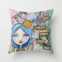 Wings to Fly Throw Pillow