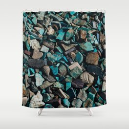 Turquoise & Teal Shower Curtain