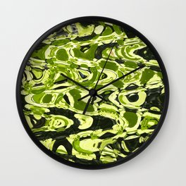 Green Forest Abstract Wall Clock