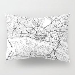 Hamburg Map White Pillow Sham