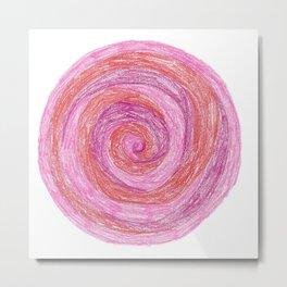 Circle Series: Princess Swirl Metal Print
