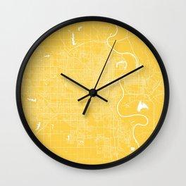 Omaha map Nebraska Wall Clock