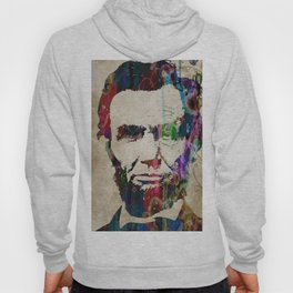 Abraham Lincoln Watercolor Modern Abstract GIANT PRINT ART Hoody