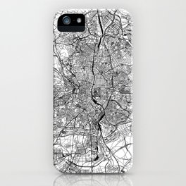 Madrid White Map iPhone Case