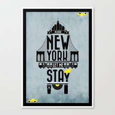 New York prayer Canvas Print