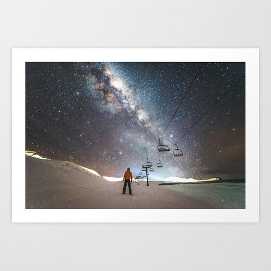 Lift me up to the stars Art Print