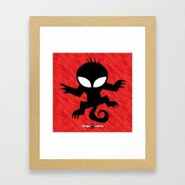 CHUPACABRAS - Red Edition Framed Art Print