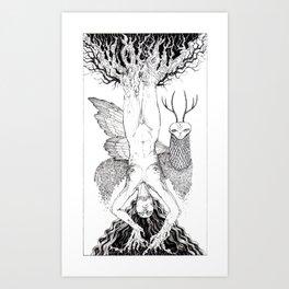 Tarot - Hanged (wo)man Art Print