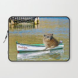 Rudolph at Sea Laptop Sleeve