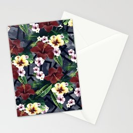 Geometric and Flowers Stationery Cards
