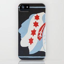 Chicago hockey flag iPhone Case