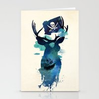 captain hook Stationery Cards featuring Captain Hook by Robert Farkas