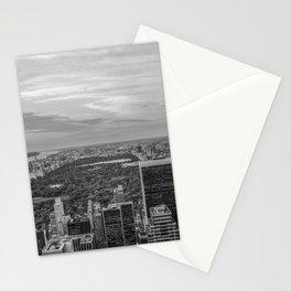 New York blanco y negro Stationery Cards