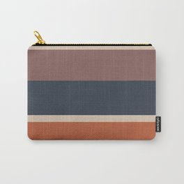 An unparagoned variation of Dark Vanilla, Charcoal Grey, Brown (Crayola) and Dark Taupe stripes. Carry-All Pouch