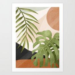 Abstract Art Tropical Leaves 21 Art Print