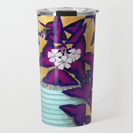 Purple Shamrock Houseplant Painting Travel Mug