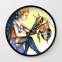 Fairies and Bees Wall Clock