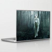 sansa stark Laptop & iPad Skins featuring Wolf by Julie Hoddinott