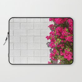 Bougainvilleas and White Brick Wall in Palm Springs, California Laptop Sleeve