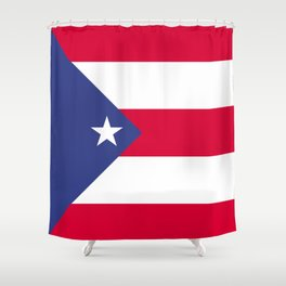 Puerto Rico flag emblem Shower Curtain