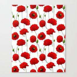 Poppies pattern Canvas Print