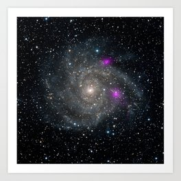 1396. Blazing Black Holes Spotted in Spiral Beauty Art Print