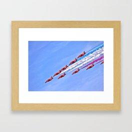 RAF, Red Arrows.  Framed Art Print