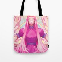 artgerm Tote Bags featuring PB by Artgerm™