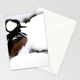 Duck in winter Stationery Cards