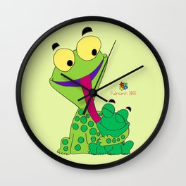 Froggy's Father's Day Wall Clock