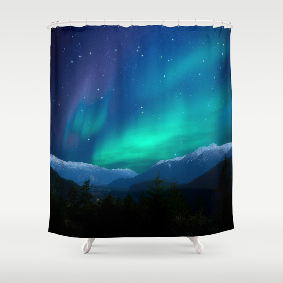 Matchbox 20 Bright Lights Bathroom Window: Space Shower Curtains