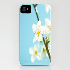 Blue & Blossoms iPhone (4, 4s) Slim Case
