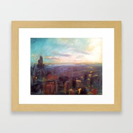 View from the Hancock Building Framed Art Print