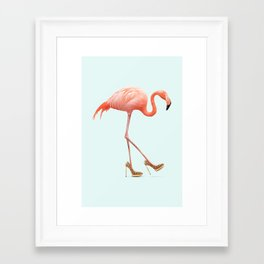 FANCY FLAMINGO Framed Art Print