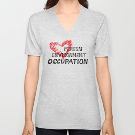 Occupational Therapy Person-Environment-Occupation Unisex V-Neck