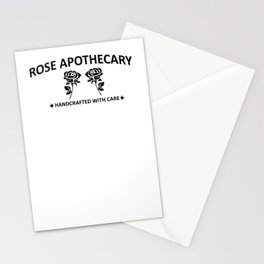 Rose Apothecary hand crafted with care Stationery Cards