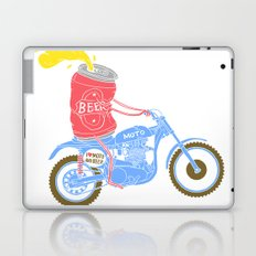 I love moto and beer Laptop & iPad Skin