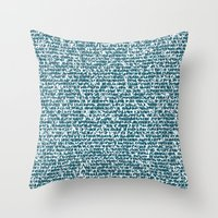 pool Throw Pillows featuring POOL by aurelien vassal
