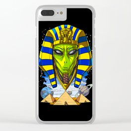 Alien Egyptian Pharaoh Tutankhamun Ancient Conspiracy Clear iPhone Case