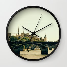 Ile De La Cite Wall Clock