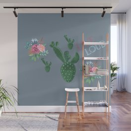 live loud with floral Wall Mural