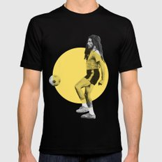 Marley playing soccer LARGE Mens Fitted Tee Black