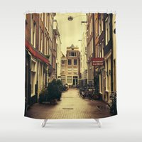 amsterdam Shower Curtains featuring Amsterdam by Pati Designs