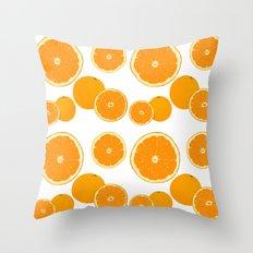 Winter orange Throw Pillow