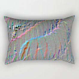 Neon Leaf Print Rectangular Pillow