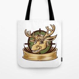 Cartoon Deer mascot  Tote Bag