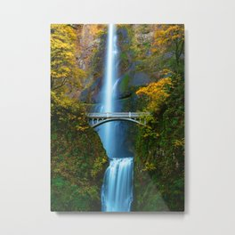 Bridge over the Waterfall (Color) Metal Print