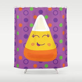 happy candy corn Shower Curtain